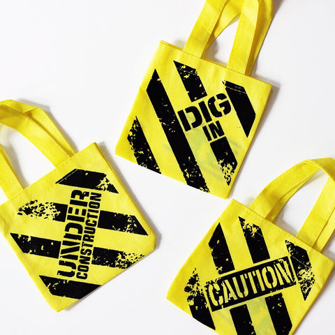 Construction Favor Bags