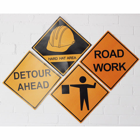 Construction Signs (Pack of 5)