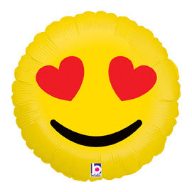 "Emoji Heart Eyes Balloon (18"")"