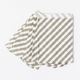 Grey Stripes Favor Bags (Set of 12)