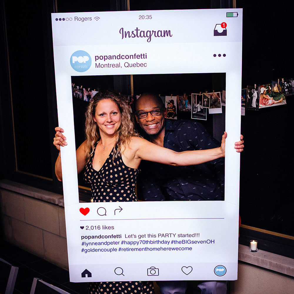 Custom Made Instagram Frame Photobooth Prop Pop And Confetti