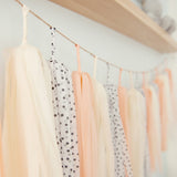 Peaches & Cream Tassel Garland
