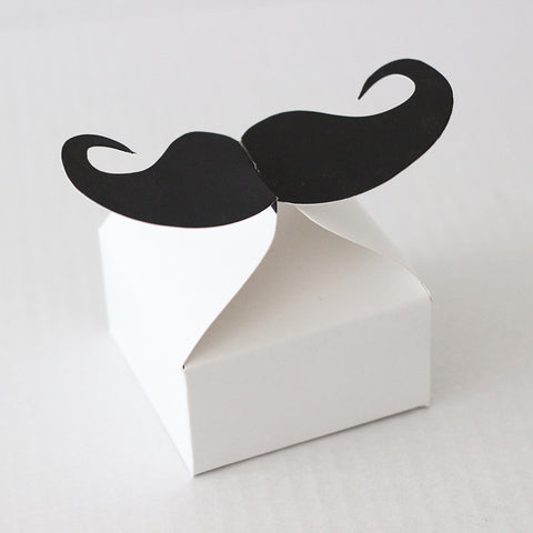 Moustache Party Favor Boxes