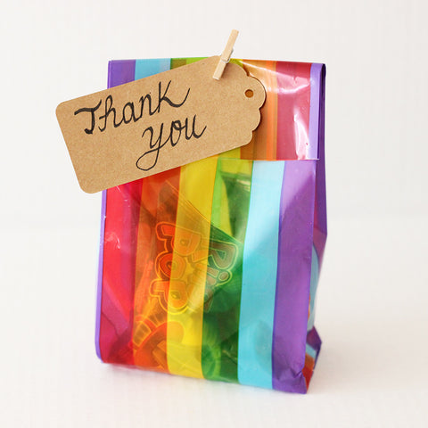 Small Rainbow Favor Bags (Set of 12)