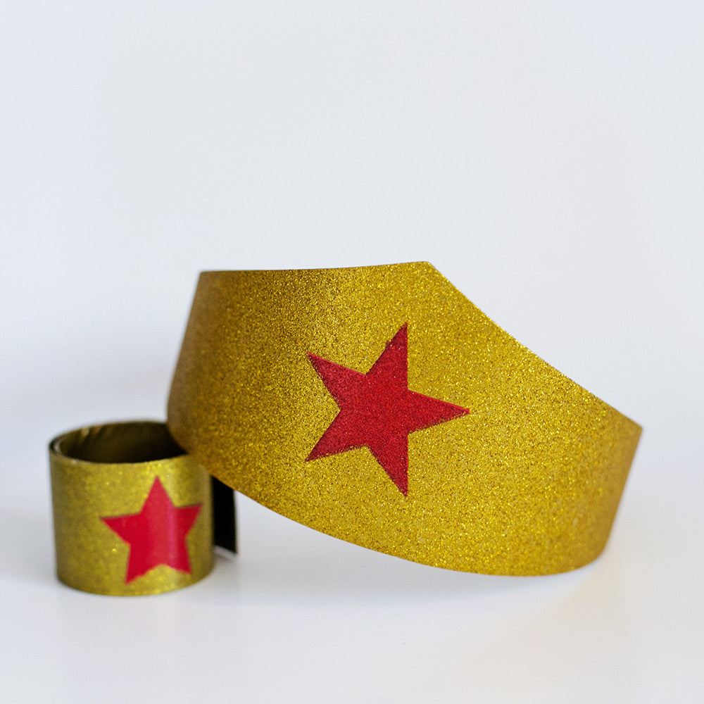 Superhero Girl Headband & Bracelet