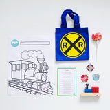 Vintage Train Loot Bag (with Bag)