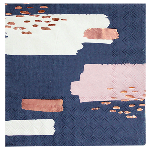 Navy Rose - ERIKA Cocktail Napkins