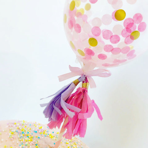 """Pop & Confetti"" Cake Topper"