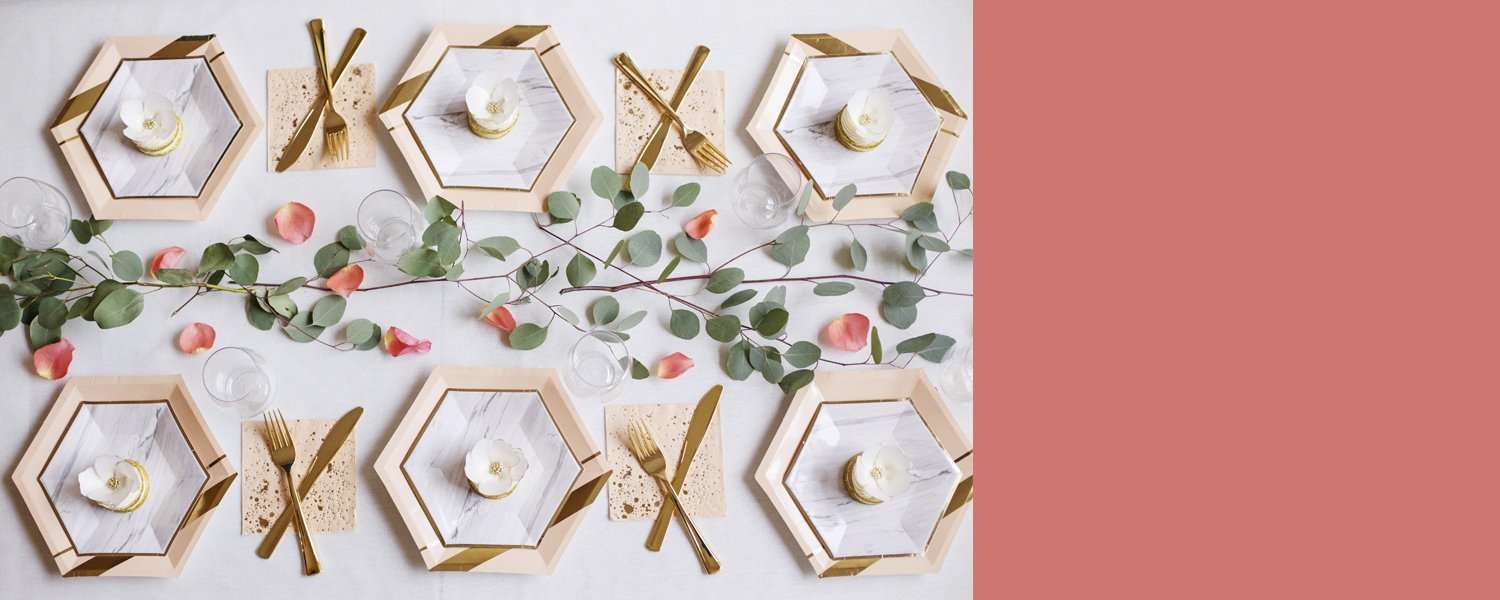 Blush Tableware | Pop & Confetti