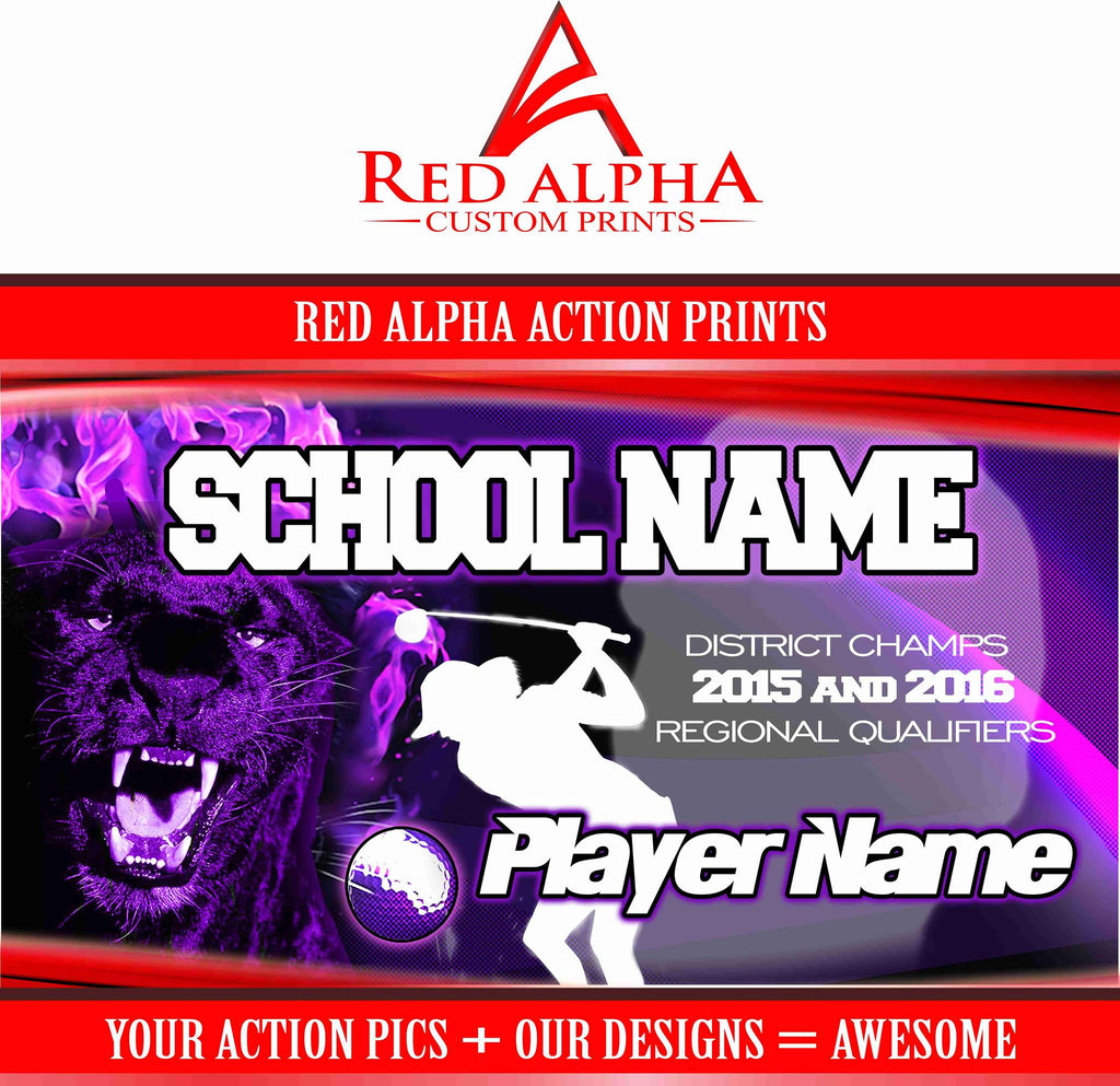 Red Alpha Action Prints