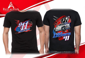 2017 Racing T-shirts for Black Andrus and Team 911