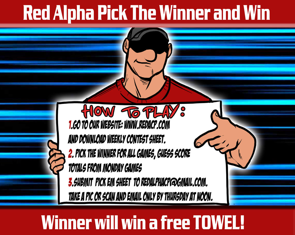 Red Alpha Pick em Contest-Week 3