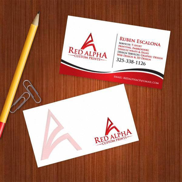 Red Alpha Business Card