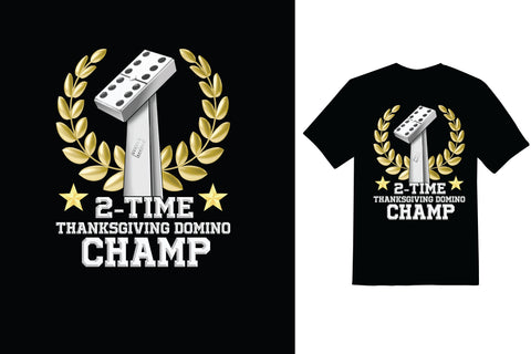 Domino Champ T-shirt Design