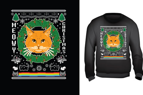 Meowy Christmans Ugly Christmas Sweater