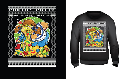 Pukin Patty Ugly Christmas Sweater
