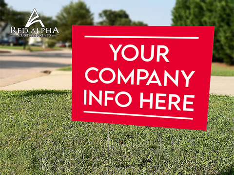 Custom Yard signs-Digital Print