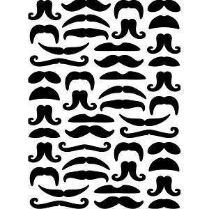 Embossing Folder - Darice - Moustaches