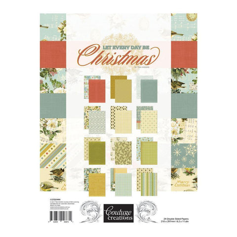 A4 - Patterned - Paper Pad - Let Every Day Be Christmas