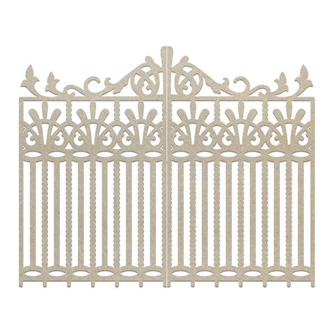 Ephemera - Chipboard - Couture Creations - Wrought Iron Gate