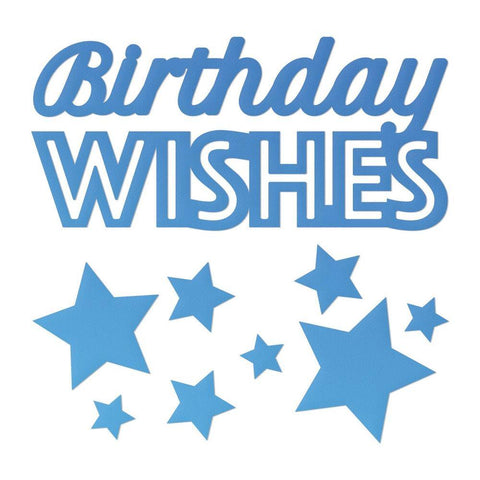 Dies - Couture Creations - Mini Dies - Birthday Wishes & Stars