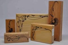 Stamps - Wooden - Australian - Gumnuts and Leaves