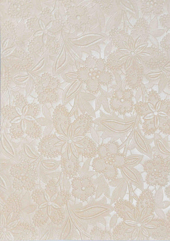 A4 - Metallic, Embossed Flowers - Bloom - Click here to choose colour
