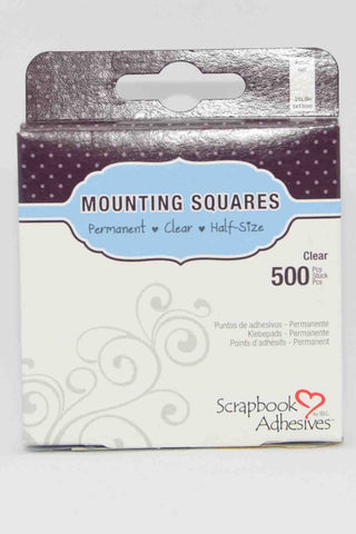 Adhesives - Scrapbook Adhesives - Mounting Squares 500 Clear 13mm x 5mm  (1/2