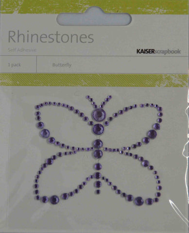 Bling - Diamantes Shapes - Butterfly - Purple (Lilac)