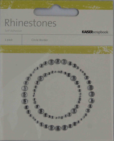 Bling - Diamantes Shapes - Circle Boarder - Clear
