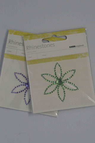 Bling - Diamantes Shapes - Coloured - Flower - Click here to select colour