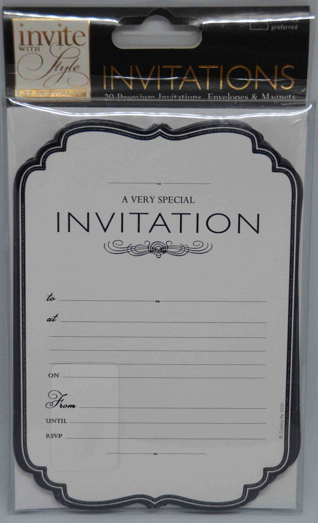 Specials - Preprinted Invitations - 'Invite with Sytle' - Cristina Re - 20 Pack