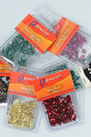 Brads - Renoir Mini Paper Fasteners Dots 4mm - Click here to choose colour