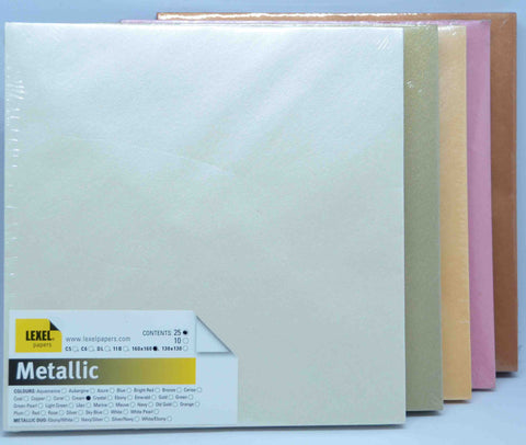 Envelopes - Square 160mm x 160mm - Metallic - click here to choose colour