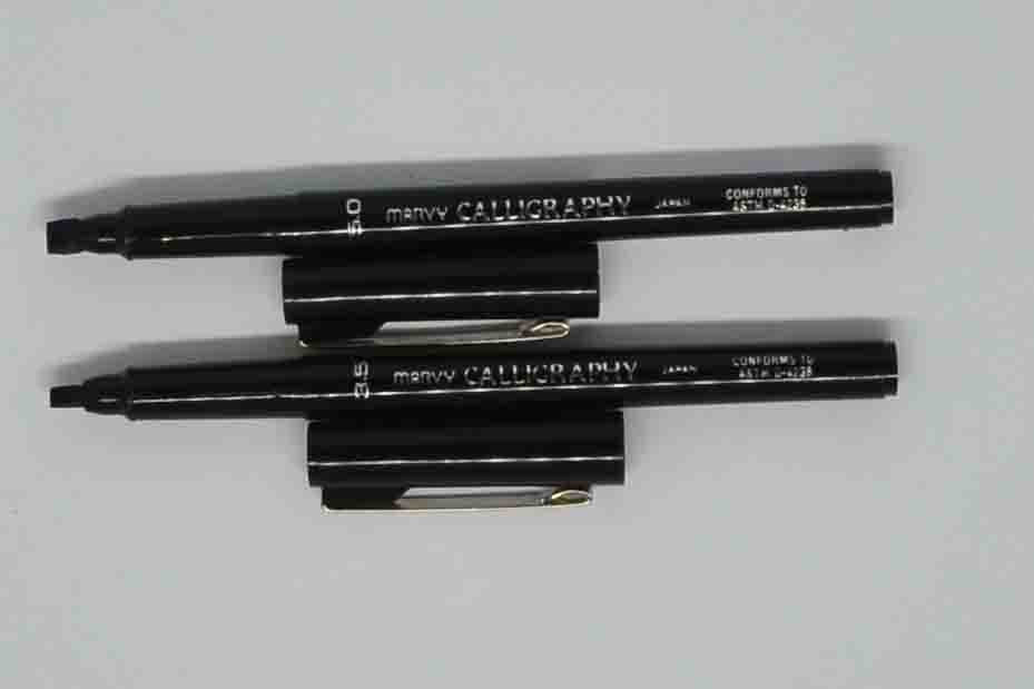 Pens - Marvy Calligraphy - Black - Click here to choose nib size