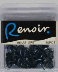 Brads - Renoir Maxi Paper Fasteners Hearts - Click here to choose colour