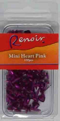 Brads - Renoir Mini Paper Fasteners Hearts 4mm - Click here to choose colour