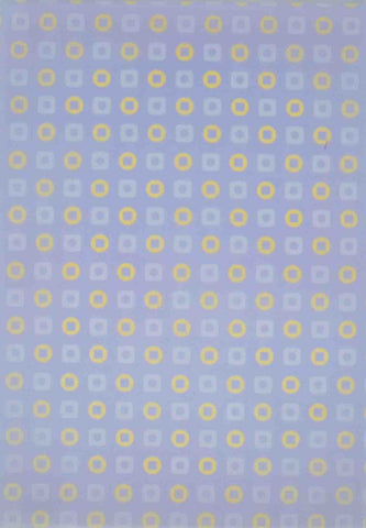 A4 - Translucent / Vellum - Patterned - Retro Squares / Circles