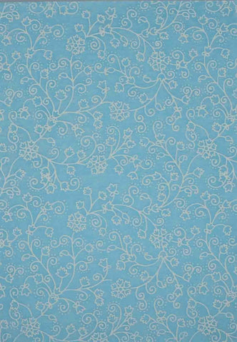 A4 - Patterned - Chiffon Glittered Snowbell - Pastel Blue / White