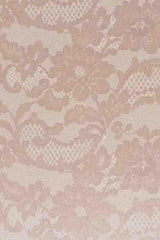A4 - Patterned - Metallic French Lace - Antique Gold on White
