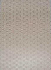 A4 - Patterned - Metallic Venetian Floral Tile - Antique Gold / White