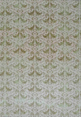 A4 - Patterned - Metallic Paris of Old - Light / Mid Green / Silver