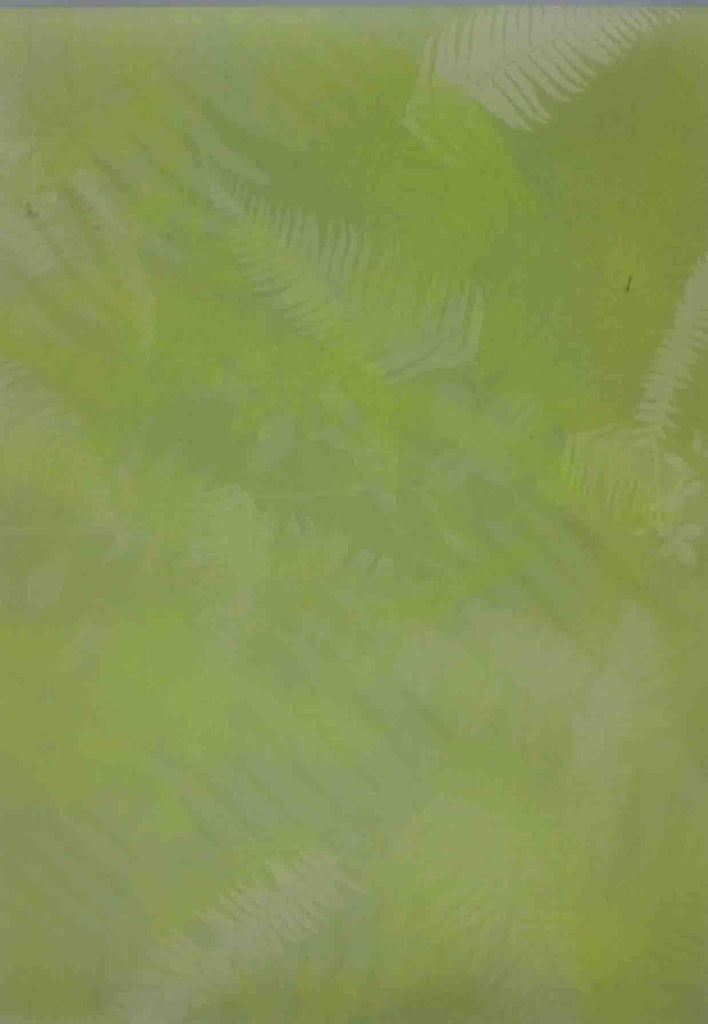 A4 - Translucent / Vellum - Patterned - Fern Leaf - Green