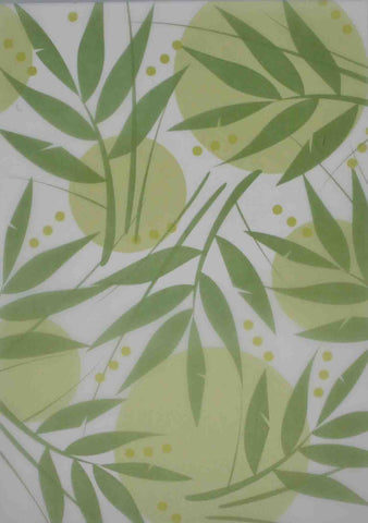 A4 - Translucent / Vellum - Patterned - Rainforest Leaf - Green