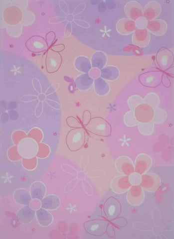 A4 - Translucent / Vellum - Patterned - Buttetflies and Flowers - Pink / Purple