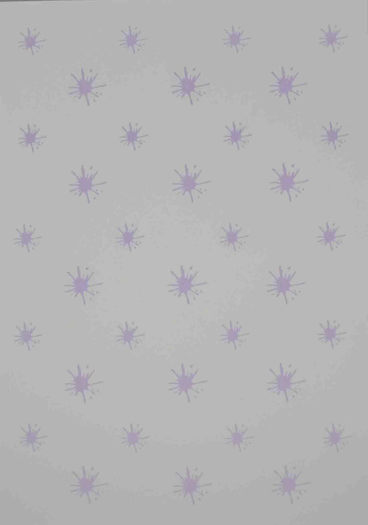 A4 - Patterned - Splats - Lavender on White