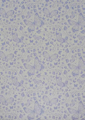 A4 - Patterned - Metallic Butterflies - Lavender Purple on White