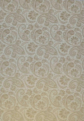 A4 - Patterned - Metallic Paisley - Gold on White