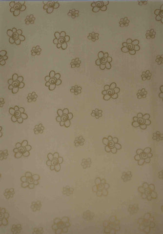 A4 - Translucent / Vellum - Patterned - Daisies - Gold on Gold
