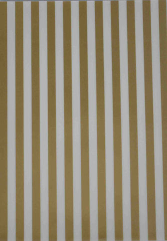 A4 - Translucent / Vellum - Patterned - Stripes - Gold and Sheer